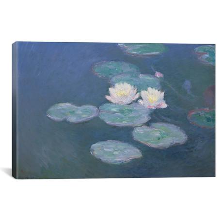 "Waterlilies, Evening (18""W x 12""H x 0.75""D)"