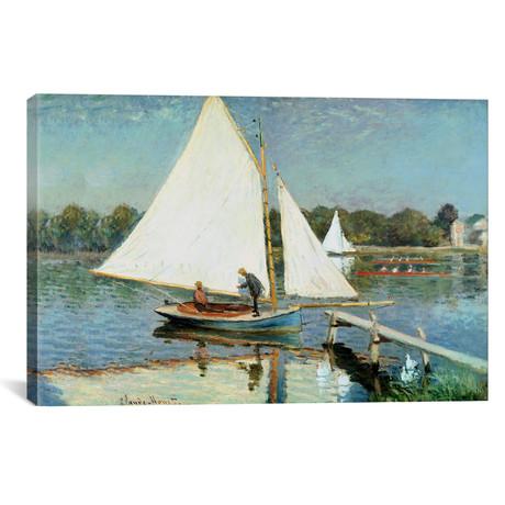 """Sailing at Argenteuil, c.1874 (18""""W x 12""""H x 0.75""""D)"""
