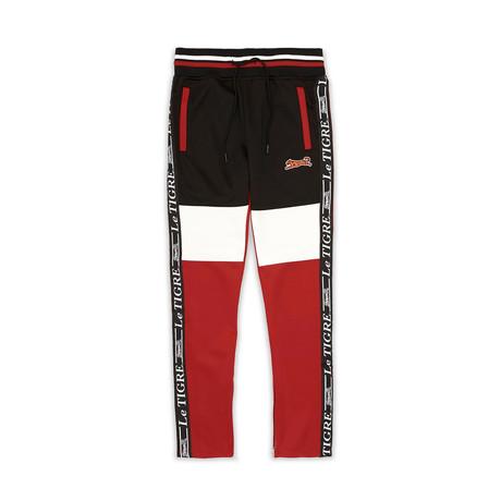 Tri Color Track Pant // Black (S)