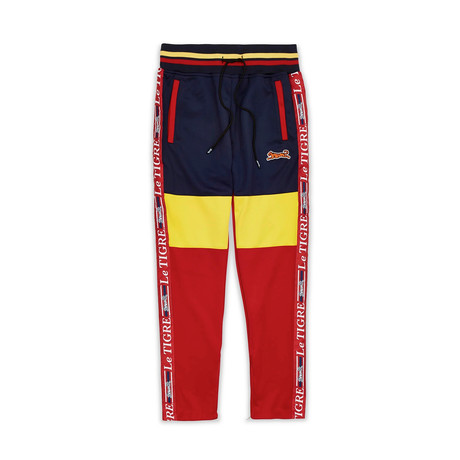 Tri Color Track Pant // Yellow (S)