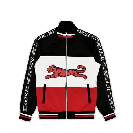 Tri Color Track Jacket // Black (S)
