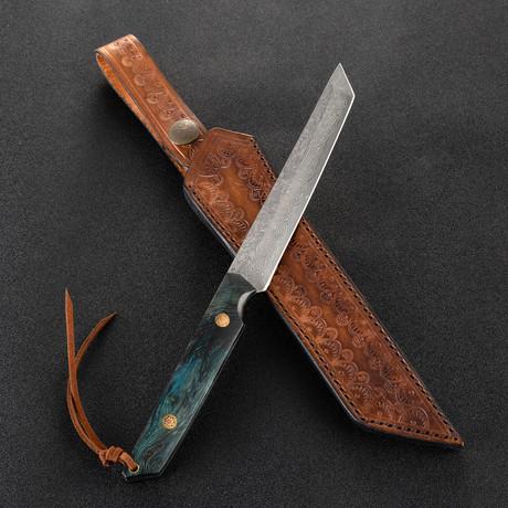 The Vital Damascus Samurai Knife
