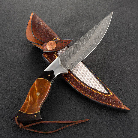 The Erland Damascus Fixed Blade