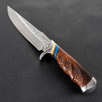 The Maple Damascus Fixed Blade