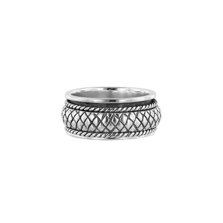 Men's Spinner Ring // Silver (9)