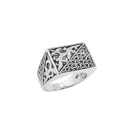 Men's Signet Ring // Silver (9)