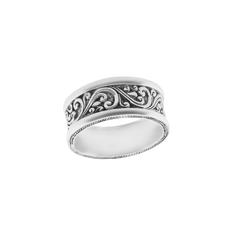 BroManse Silver Scrollwork Ring (9)