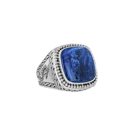 BroManse Silver Sodalite Ring (9)