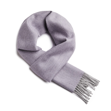 Scarf Exclusive Herringbone // Lilac + Silver