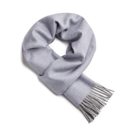 Scarf Exclusive Herringbone // Misty Blue + Silver
