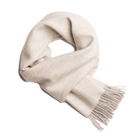 Scarf Exclusive Herringbone // White + Silver