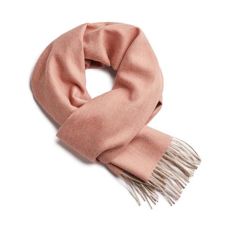 Scarf Exclusive Herringbone // Nude Pink + Beige