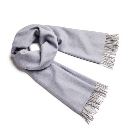 Shawl Exclusive Herringbone // Misty Blue + Silver