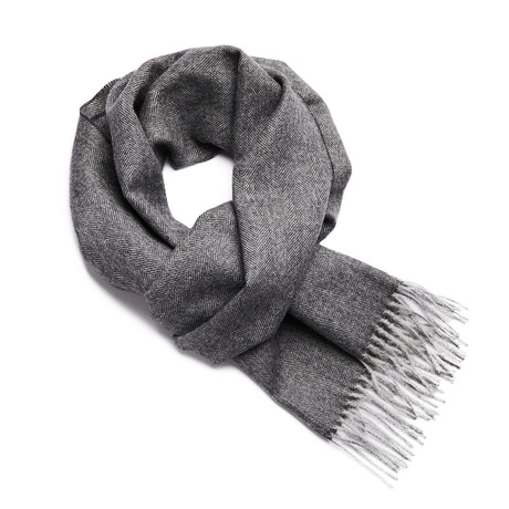 Scarf Exclusive Herringbone // Charcoal + Silver