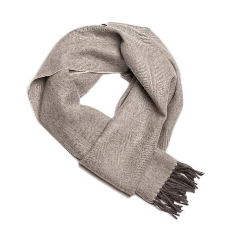 Scarf Exclusive Herringbone // White + Gray