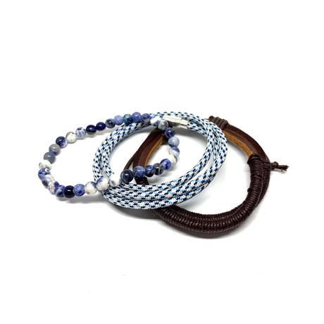 Variety Bracelet Set // 3-Pack // Sodalite