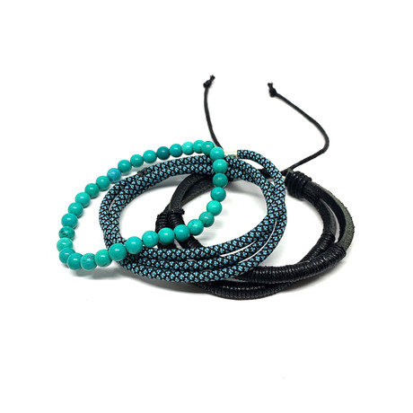 Variety Bracelet Set // 3-Pack // Turquoise