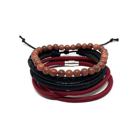 Variety Bracelet Set // 3-Pack // Sesame Jasper