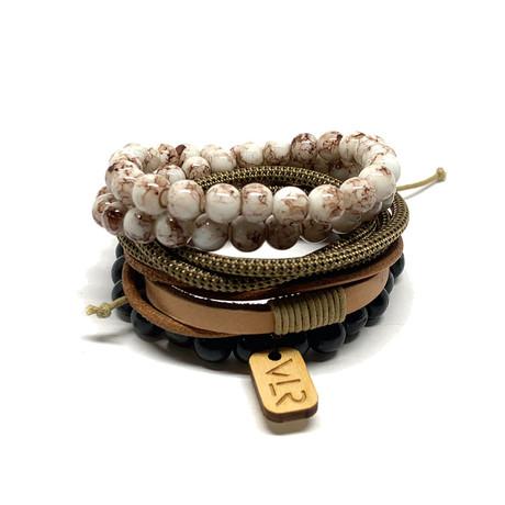 Variety Bracelet Set // Black + Khaki