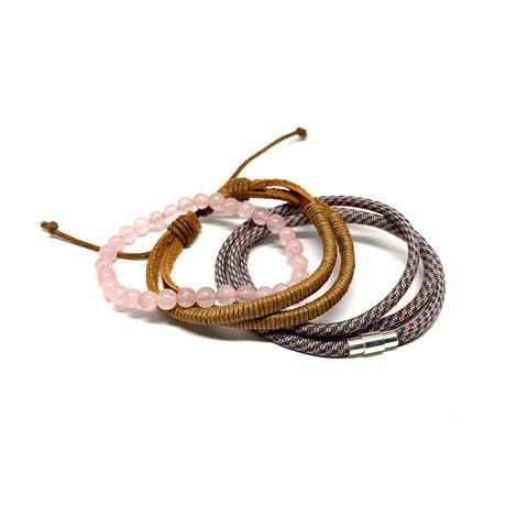 Variety Bracelet Set // 3-Pack // Rose Quartz