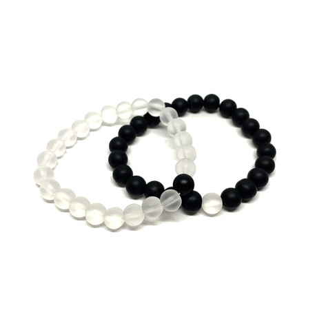 Healing Stone Piece Of Me // 2-Pack // Clear Quarts + Onyx (Small)