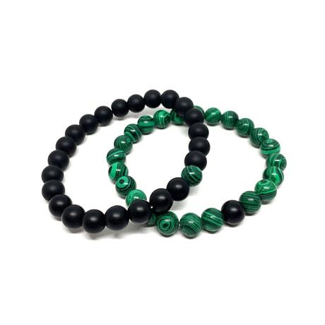 Healing Stone Piece Of Me // 2-Pack // Malachite + Onyx (Small)