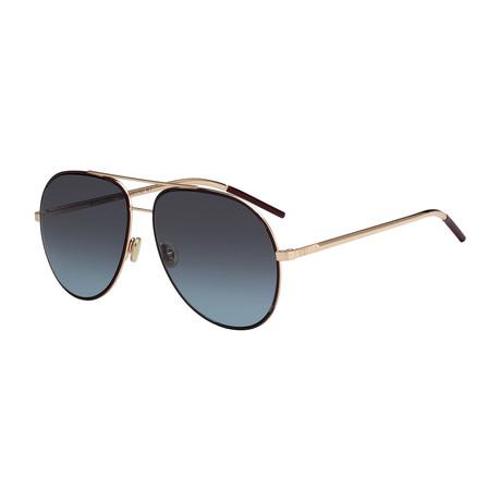 Unisex Astral S Aviator Sunglasses // Rose Gold + Blue
