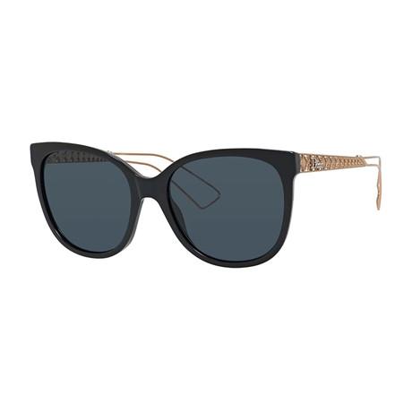Women's Diorama Sunglasses // Gold + Black