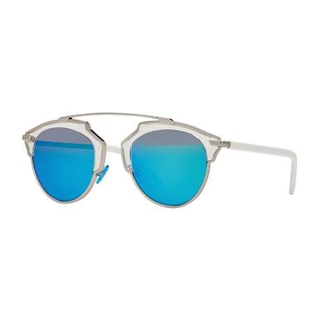 Unisex So Real Sunglasses // Gunmetal + White