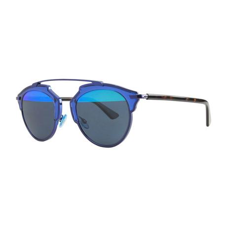 Unisex So Real Sunglasses // Havana + Blue