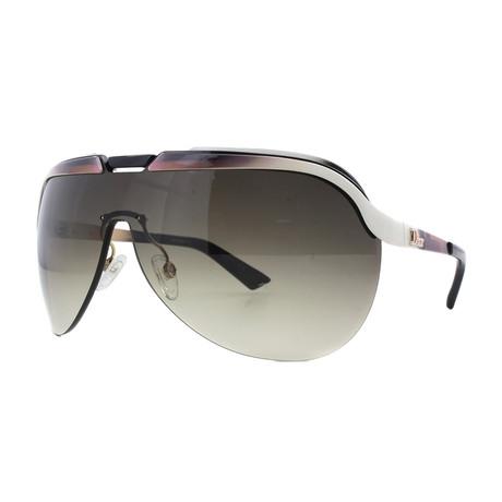 Women's Solar Sunglasses // White + Brown