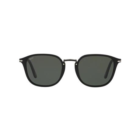 Men's Rectangle Combo Evolution Sunglasses // Black + Gray (51mm)