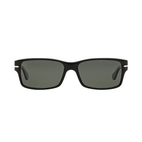 Men's Rectangle Polarized Sunglasses // Black + Gray
