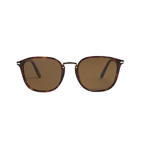 Men's Polarized Rectangle Combo Evolution Sunglasses // Havana + Brown