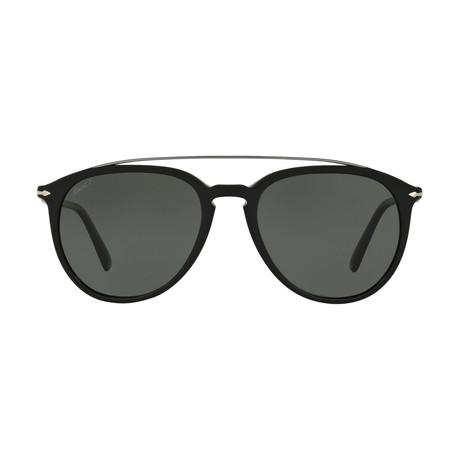 Men's Bridge Sunglasses // Black + Gray