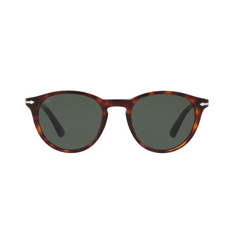 Men's Classic Round Sunglasses // Havana + Gray