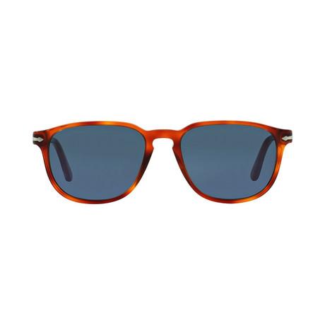 Men's Classic Square Sunglasses // Terra Di Siena + Blue (52mm)