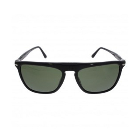 Men's Flat Top Sunglasses // Black + Gray