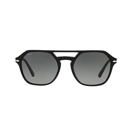 Men's Square Aviator // Black + Gray Gradient
