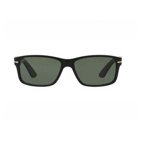 Men's Large Rectangel Polarized Sunglasses // Matte Black