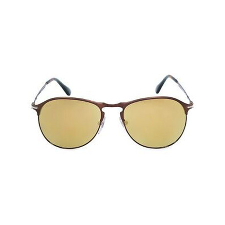 Men's Mirrored Classic Tear Drop Sunglasses // Matte Brown + Brown Mirror (53mm)