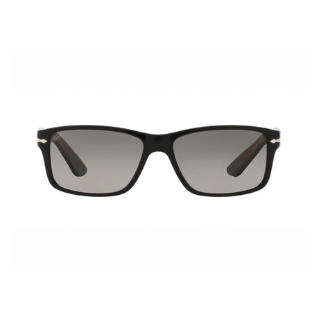 Men's Classic Rectangle Sunglasses // Black + Gray Gradient