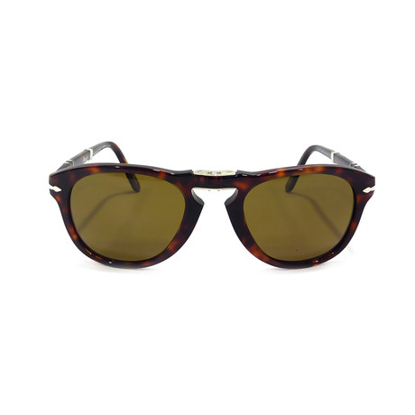 Men's 714 Iconic Folding Polarized Sunglasses // Havana Brown