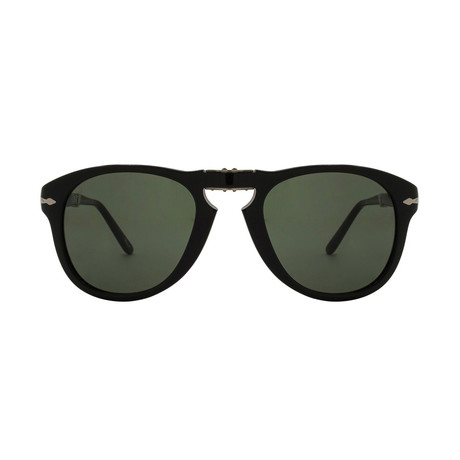 Men's 714 Iconic Folding Sunglasses // Black + Green (52mm)