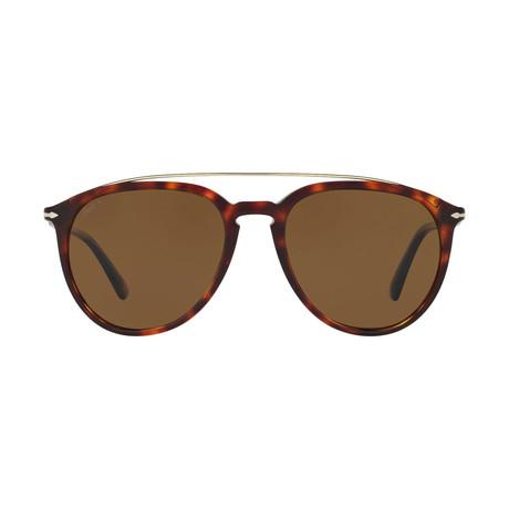 Men's Bridge Polarized Sunglasses // Havana + Brown