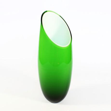 Florum Flower Vase // Green Outside/White Inside