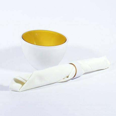 Iris Napkin Rings // Amber // Set of 4 Rings