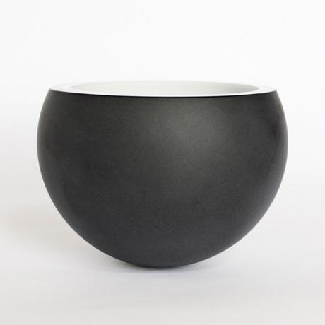 Molecula Bowl // Black Outside/White Inside // Limited Edition
