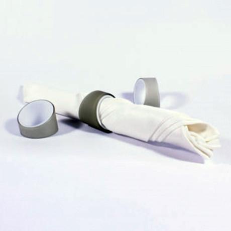 Iris Napkin Rings // Smoke // Set of 4 Rings