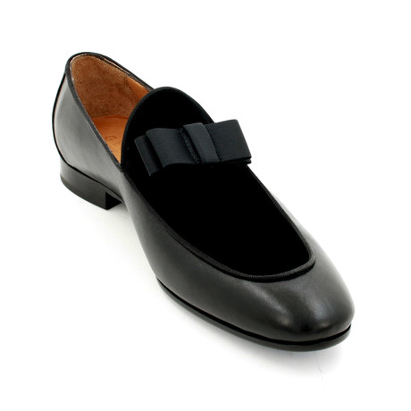 Velvet Bow Loafers // Black (Euro: 39)